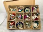 12 VTG TEARDROPS INDENT GLASS CHRISTMAS Ornaments