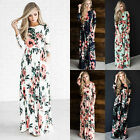 USA Plus Size Fashion Women Ladies Boho Beach Bandage Party Dress Maxi Sundress