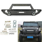 Textured Front Bumper Combo + 20120W LED Light for 2007 2018 Jeep JK Wrangler