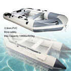 PVC 108Ft Inflatable Boat Pneumatic with Aluminum Floor  Sitting Bench