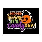 Hip Hip Hooray Its Candy Day Scrapbook Title Premade Paper Piece