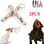 2PC Metal Dog Whistle UltraSonic Supersonic Sound Pet Command Training Obedience