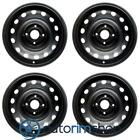 New 14 Replacement Wheels Rims for Chevrolet Aveo 2005 2011 Front Set Black 964