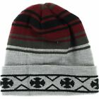 Independent High Plains Long Beanie Red Grey Black Onesize