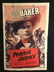 Prairie Justice 1950 One Sheet Movie Poster Bob Baker Cowboy Western Country