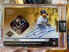 2019 Topps NOW 1006F Gleyber Torres New York Yankees AUTO RELIC 1 1 Autograph