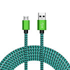 2M USB Micro Charger Data Charging Lighting Cable For Samsung Moto Android Green