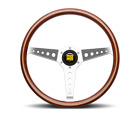 MOMO Steering Wheel California Wood 360 Diam 34.5 Dish Mahogany Wood Pol Spokes