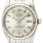 Vintage ROLEX Datejust 1601 White Gold Steel Automatic Mens Watch BF340884