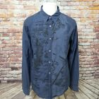 GUESS JEANS VINTAGE COTTON GRAPHIC LONG SLEEVE CASUAL SHIRT SIZE L A66 03