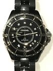 Chanel J12 Black Ceramic With Diamond Dial Automatic Unisex Watch H1996 39MM !!!