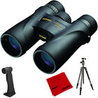 Nikon Monarch 5 Water Fog Proof Binoculars 12x42 + Aluminum Travel Tripod Bundle