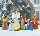 Christmas Outdoor Yard Decorations Nativity Holiday Three Kings Set Home Decor