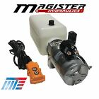 Hydraulic Pump Power Unit Single Acting 12V DC Dump Trailer 6 Quart with Remote