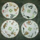 LYNN CHASE Harmony FOUR SALAD PLATES 8 1 2 Excellent