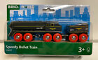 Brio World Wooden Railway Speedy Bullet Train Engine & Tender #33697, New