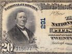 1902 20 PITTSBURGH PA Ch 291 Third National Bank Note FREE SHIPPING 115677