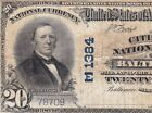 1902 20 BALTIMORE MD Ch 1384 Citizens National Bank Note FREE SIHP N71996E