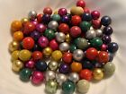 100 Vintage Clay Marbles Handmade Green Red Blue Purple Silver Foil Rose More