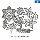 Christmas Snowflake Bell Metal Cutting Dies Scrapbook Embossing Diy Ornament
