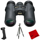 Nikon Monarch 7 10x42 Water Fog Proof Binoculars + Aluminum Travel Tripod Bundle