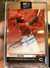Aristides Aquino Reds Rookie 2019 Topps Now RC #784D On-Card Autograph Auto 10