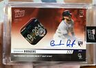 2019 TOPPS NOW #240D BRENDAN RODGERS AUTO BASE RELIC 10 RBI IN 1ST MLB AT-BAT