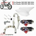 Motorcycle Complete Dual Muffler Exhaust System For Honda CRF230F CRF150F 03 16