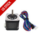 Nema 17 Stepper Motor 64oz-in 1.5a Diy Cnc Robot 3d Printer 39.37 4 Wires