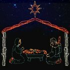 LED Lighted Nativity Scene Christmas Outdoor Display Yard Decoration Stable Star
