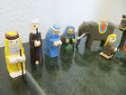 VINTAGE 15 pc WOODEN MINIATURE NATIVITY SET hand painted