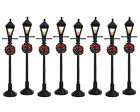 NEW LEMAX VILLAGE COLLECTION 4 Gas Lantern Street Lamp, Set Of 8 #64500