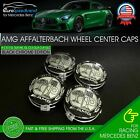 Amg Affalterbach Wheel Center Caps Emblem 75mm Mercedes Benz Wreath Rim 4 Pcs Oe