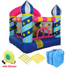 Inflatable Bounce House Kids Large Jumping Room Magic Castle Blower + Carry Bag