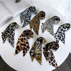 Soft Neckwear Chic Vintage Little Silk Scarf Leopard Print Neckerchief Ribbon