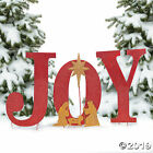 Joy Yard Sign Nativity Christmas Decorations Holiday Xmas Decor Outdoor Art New