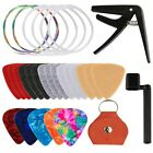 Ukulele Accessory Kit with Ukulele Felt Picks Celluloid Picks Leather Picks K7Z1