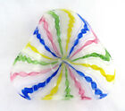 Murano Italy Latticino Multi Color Ribbon Glass Candy Nut Bowl Excellent Mint