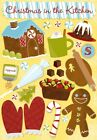 Scrapbooking Crafts KF Stickers Christmas in Kitchen Baking Icing Cake Cookies