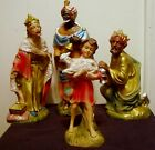 VINTAGE JAPAN PAPER MACHE LARGE NATIVITY PIECES THREE MAGI  SHEPHERD BOY