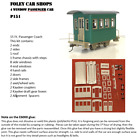 On30 15 Ft Passenger Coach Plastic kit