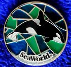 Seaworld STAINED GLASS ORCA Pin Retired
