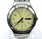 Swatch Irony Swiss Day Date 24 Hour Time Stainless Steel Watch (RUNS) GRG325