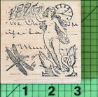 Naked Lady Swan Collage rubber stamp by Just for Fun