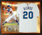 Pete Alonso New York Mets Framed Signed White Majestic Replica Jersey Collage