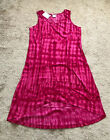 's 100% Cotton Tie Dy Dress Pink Size Large New