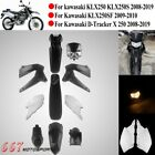 Black Fairing Kit ABS Bodywork for Kawasaki KLX250 KLX 250 2008-2019 D-Tracker X