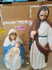 Christmas Nativity Outdoor Blow Mold JesusJoseph Mary 1996 7 TPI