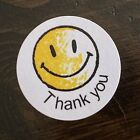 Happy Face Thank You Labels Stickers