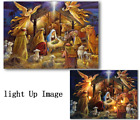 Led Canvas Picture Light Up Jesus Birth Night Wall Art Prints Home Decor Framed